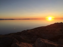 sunset at Buffalo Point on Antelope Island. the sunlight didn't fully fade until almost 11pm