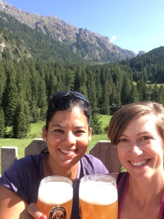 Send off brews at Zanser Alm