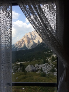 View from my bedroom at Rifugio Valparola