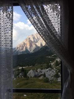 View from my bedroom at Rifugio Valparola