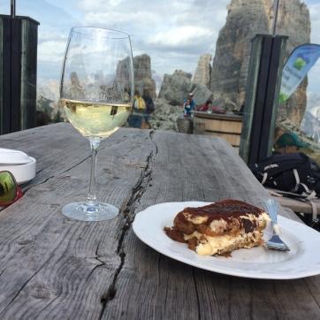 Snacks at Rifugio Scoiattoli after exploring the beautiful Cinque Torri
