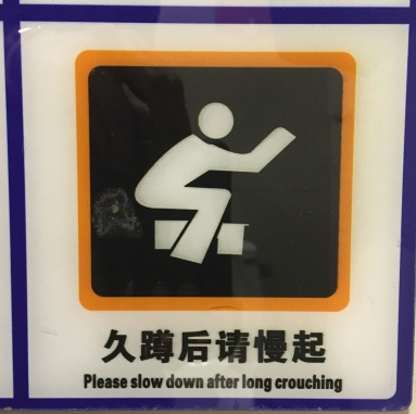 Warning about using the squat toilets