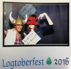 With a friend at the company's annual Octoberfest