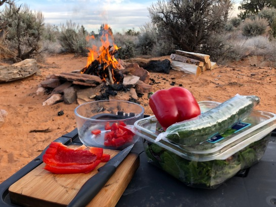 Camping off Burr Trail Road